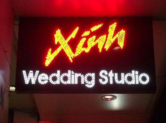 Làm biển quảng cáo ảnh viện áo cưới