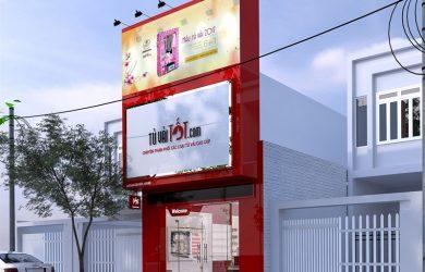 Làm biển quảng cáo tủ vải cao cấp cầu giấy