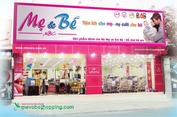 Làm Biển Quảng Cáo Cửa Hàng Shop Mẹ Và Bé;
