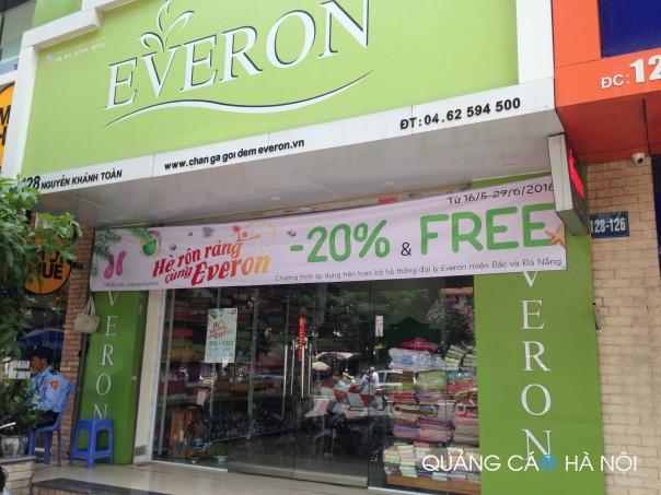 Làm biển quảng cáo cửa hàng Chăn Ga Gối Đệm Everon