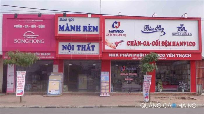 Làm biển quảng cáo cửa hàng Chăn Ga Gối Đệm Sông Hồng