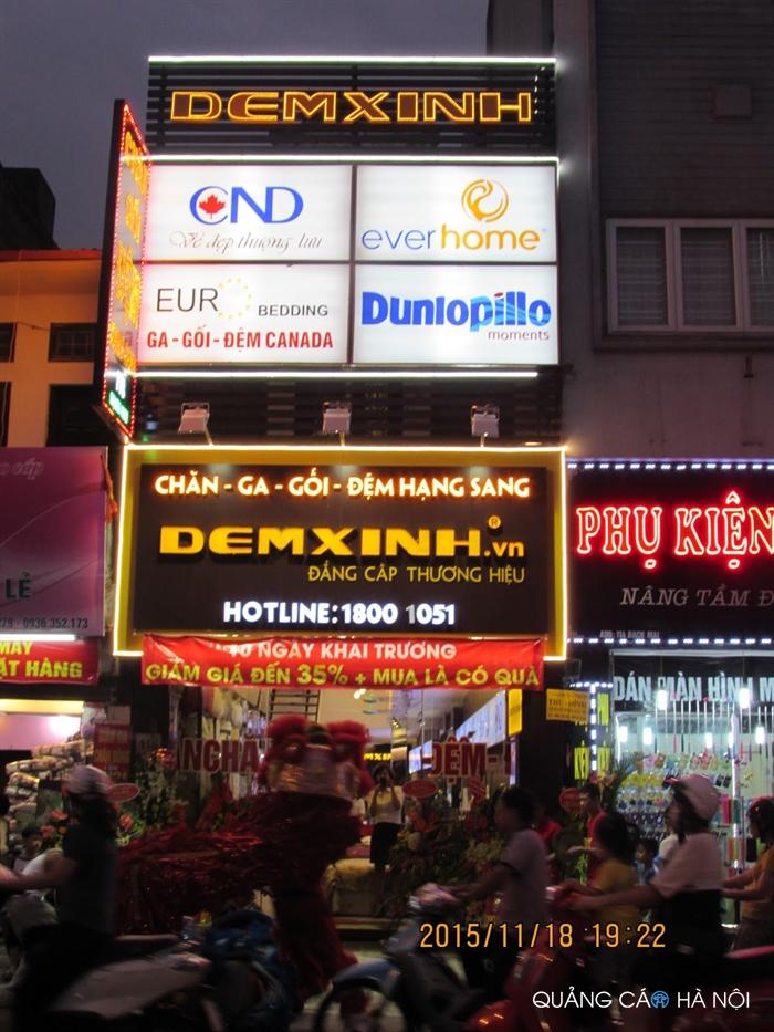 Làm biển quảng cáo cửa hàng Chăn Ga Gối Đệm Đệm Xinh