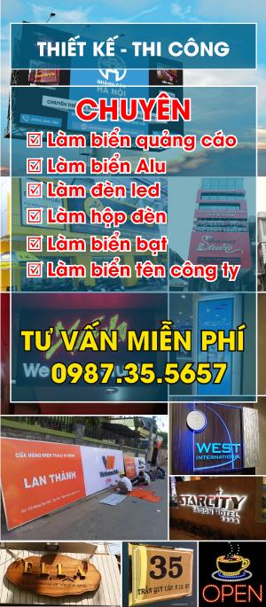 Làm biển quảng cáo tại Hà Nội