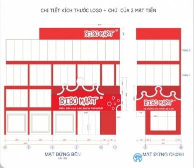 Thiết kế 2D biển quảng cáo siêu thị BIBO MART