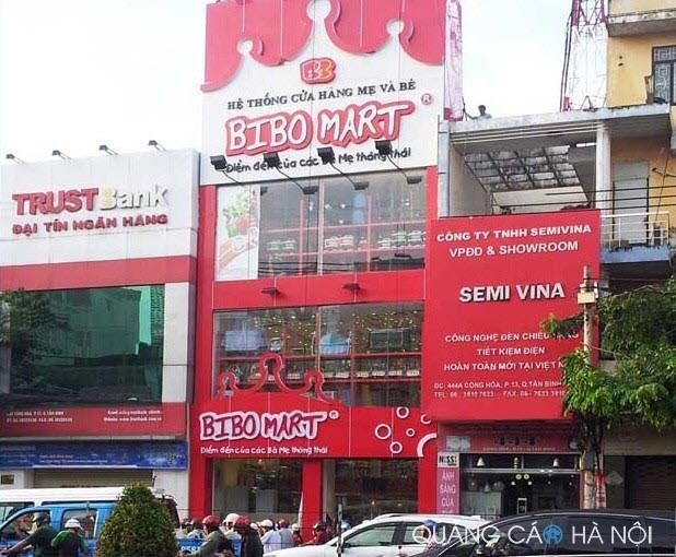 Làm biển quảng cáo siêu thị BIBO MART