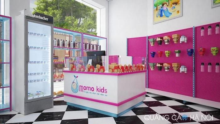 Thi công nội thất siêu thị momo kid