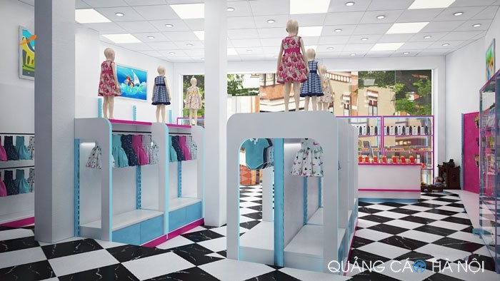 Thiết kế nội thất siêu thị momo kid